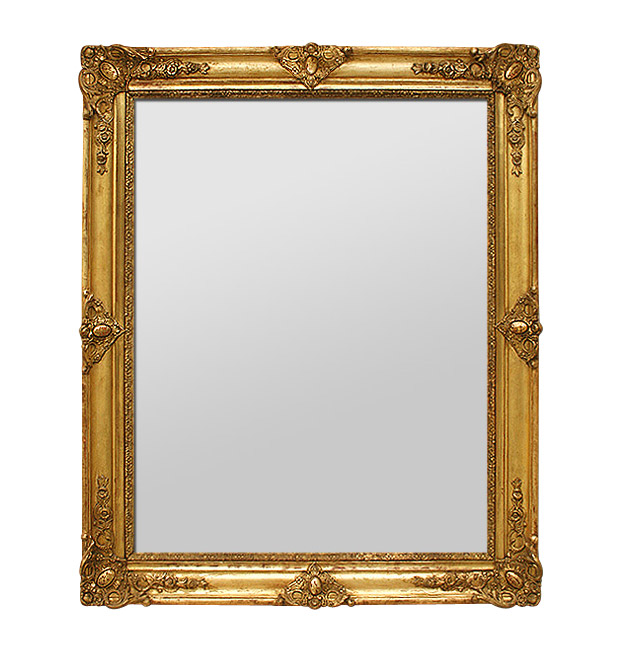 Antique French gilt mirror, period Restoration, circa 1830