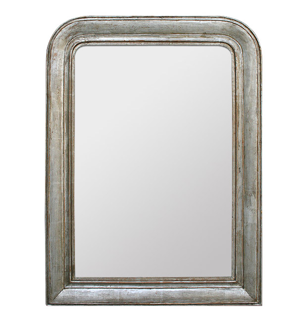 Antique mirror Louis-Philippe silvered