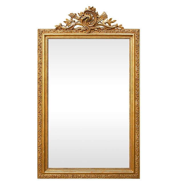 Large antique gilt fireplace mirror