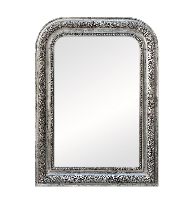 Antique Louis-Philippe silver mirror