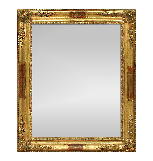 Antique mirror gold Romantic style, circa 1900