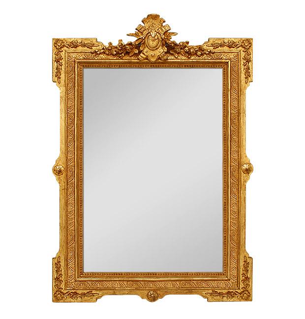 Antique Napoleon III giltwood mirror, circa 1880