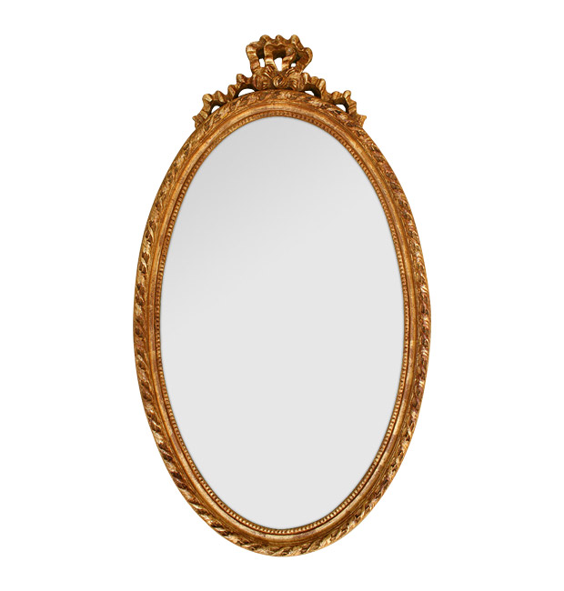 Antique oval mirror Louis XVI style