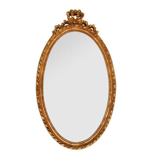 Antique oval mirror Louis XVI style