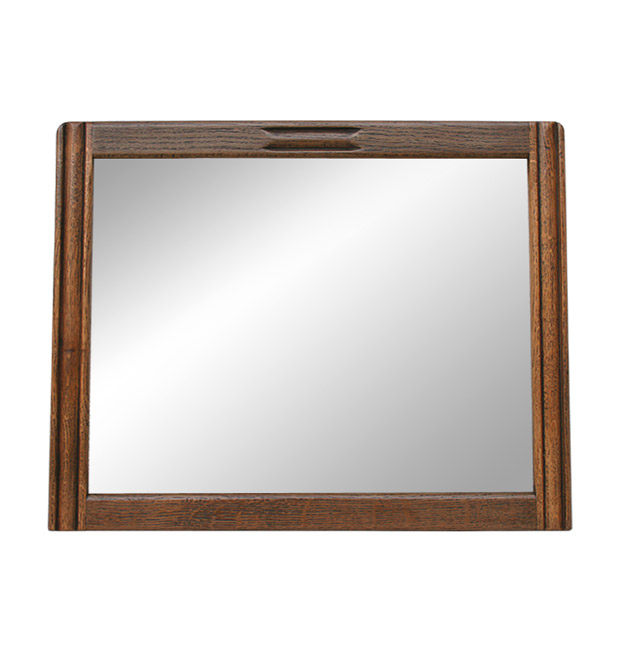 Old antique wooden mirror from the 1940s