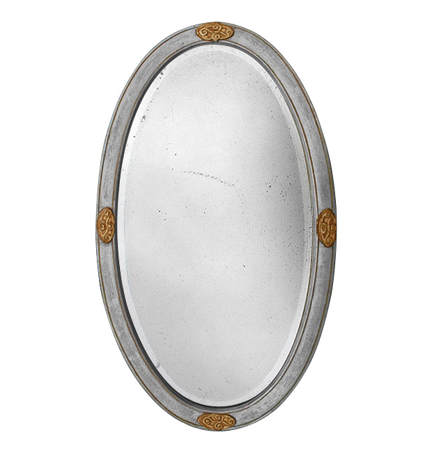 Oval mirror silver and gold, circa 1900
