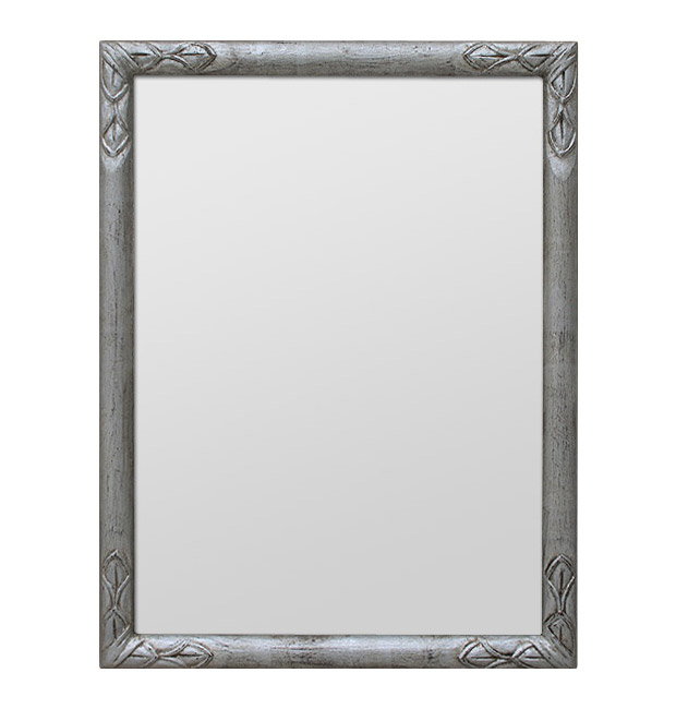 Patinated silver Art Deco mirror