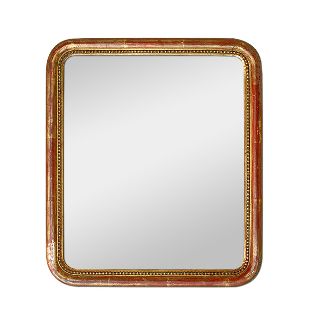 Small antique mirror giltwood romantic style, circa 1830