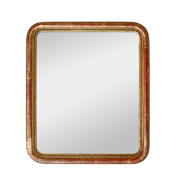 Small antique mirror giltwood romantic style, circa 1830